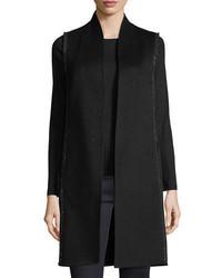 Cashmere collection luxury chain trim double face cashmere vest medium 4156679