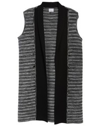 Ming Wang Ribbed Tweed Vest