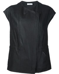 Vince Perforated Cap Sleeve Vest