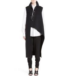 Marni Wool Alpaca Cashmere Asymmetrical Vest