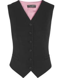 Wool blend vest black medium 5258815