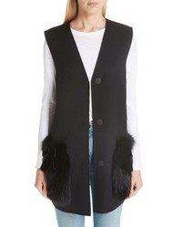 Fendi Wool Vest With Genuine Fox