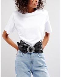 ASOS DESIGN Asos 80s Patent Waist Sash Belt With Glitter