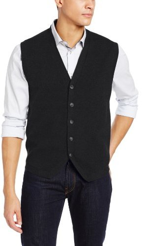 Perry Ellis 5 Button Front Sweater Vest | Where to buy & how to wear