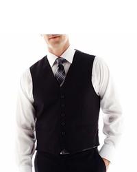 Arrow Black Herringbone Vest