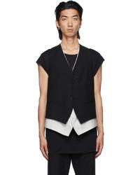 Ann Demeulemeester Black Layered Vest