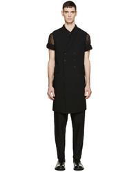 Ann Demeulemeester Black Long Waistcoat
