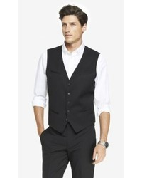 Express Slim Photographer Stretch Wool Suit Vest