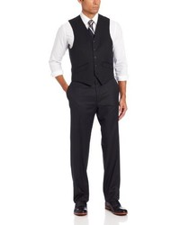 Haggar solid suit separate vest medium 256468