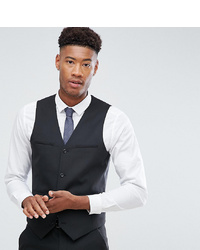 ASOS DESIGN Tall Slim Suit Waistcoat In Black