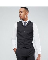 ASOS DESIGN Tall Super Skinny Fit Suit Waistcoat In Charcoal