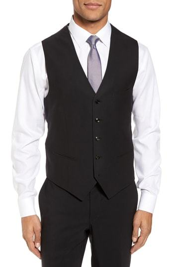 Ted Baker London Trim Fit Solid Wool Vest