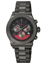 Salvatore Ferragamo 42mm 1898 Chronograph Watch Black