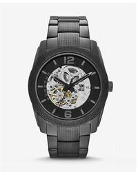 Express Automatic Analog Bracelet Watch Black