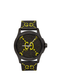 Gucci Black And Yellow G Timeless Ghost Watch