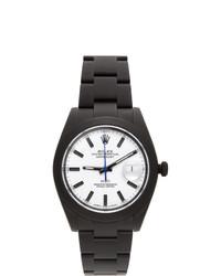 MAD Paris Black Customized Rolex Datejust 41 Watch