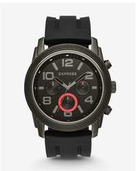 Express Black Rivington Oversized Multi Function Watch