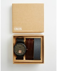 Asos Brand Watch With Three Interchangeable Straps