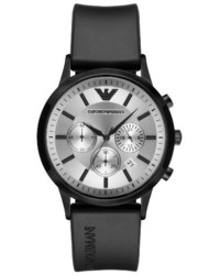 Emporio Armani Chronograph Silicone Strap Watch 43mm
