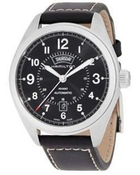Hamilton Khaki Field Stainlee Steel Leather Strap Watch