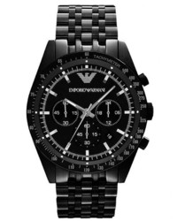 Emporio Armani Large Chronograph Watch Black