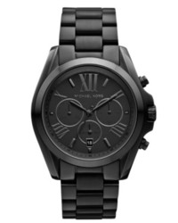 Michael Kors Michl Kors Chronograph Bradshaw Black Ion Plated Stainless Steel Bracelet Watch 43mm Mk5550