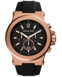 Michael Kors Michl Kors Dylan Rose Gold Tone Stainless Steel Watch