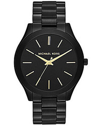 Michael Kors Michl Kors Slim Runway Stainless Steel 3 Hand Bracelet Watch