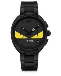 Fendi Moto Bug Black Stainless Steel Bracelet Watch