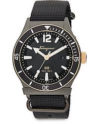 Salvatore Ferragamo Round Stainless Steel Watch