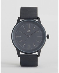 Asos Sleek Black Watch With Rubberised Strap