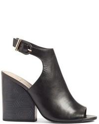 f95348583 Grove Open Toe Bootie. Black Wedge Ankle Boots by Tory Burch
