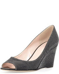 Kate Spade New York Radiant Sparkly Wedge Pump Black