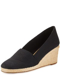 Andre Assous Pamela Canvas Wedge Pump Black