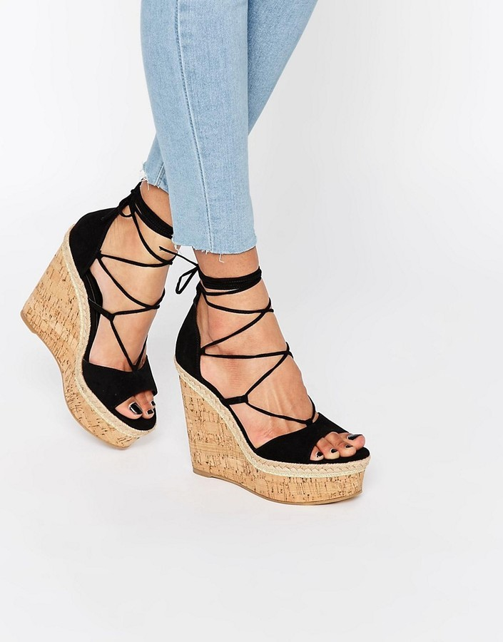 Asos Tammi Lace Up Wedge Sandals, $34
