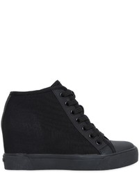 DKNY 80mm Cindy Stretch Mesh Wedged Sneakers