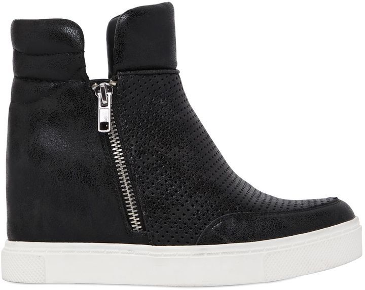 735c68fc1c7 ... Steve Madden 80mm Perforated Wedge Sneaker Boots