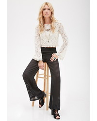 Forever 21 Accordion Pleat Wide Leg Pants