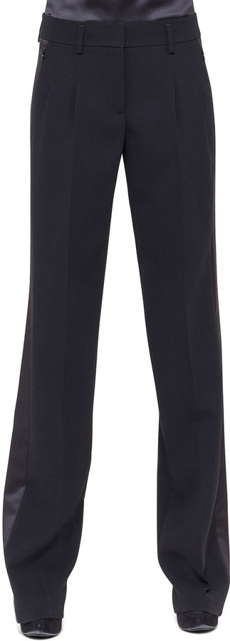 Akris Miranda Wide Leg Tuxedo Pants Black | Where to buy & how to wear