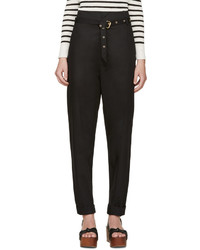 Isabel Marant Black Belted Nesto Trousers