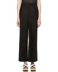 Isabel Marant Black Cotton Spanel Trousers