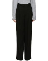 Marc Jacobs Black Wide Leg Crepe Trousers