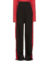 Vetements Black Wide Leg Lounge Pants