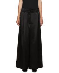 Loewe Black Wide Leg Satin Trousers