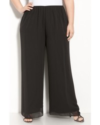 Alex Evenings Chiffon Palazzo Pants