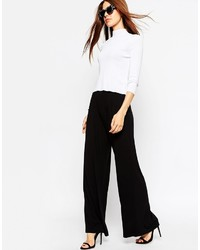 Asos Collection Wide Leg Pants In Jersey