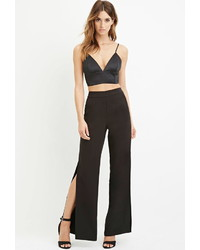 Forever 21 Contemporary Wide Leg Slit Pants