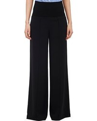 ATM Anthony Thomas Melillo Crepe Twill Palazzo Pants Black