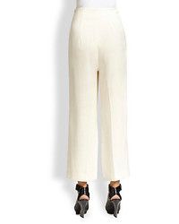3.1 Phillip Lim Cropped High Waist Wide Leg Trouser Pants