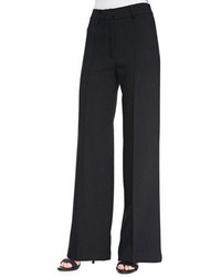 Milly Double Weave Cady Wide Leg Trousers